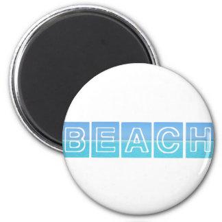 Beach Sillouette Design Blue & Beautiful Magnet