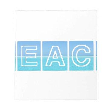 Beach Themed Beach Sillouette Design Blue & Beautiful Notepad