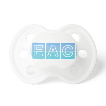 Beach Themed Beach Sillouette Design Blue & Beautiful Pacifier