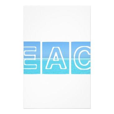 Beach Themed Beach Sillouette Design Blue & Beautiful Stationery