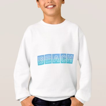 Beach Themed Beach Sillouette Design Blue & Beautiful Sweatshirt