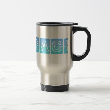 Beach Themed Beach Sillouette Design Blue & Beautiful Travel Mug