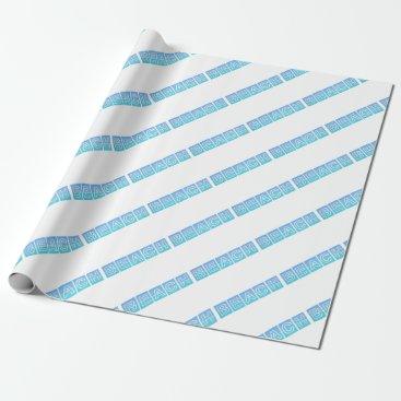 Beach Themed Beach Sillouette Design Blue & Beautiful Wrapping Paper