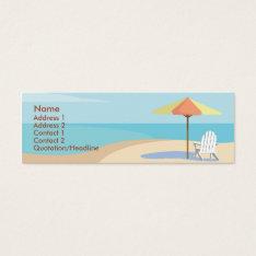 Beach - Skinny Mini Business Card at Zazzle