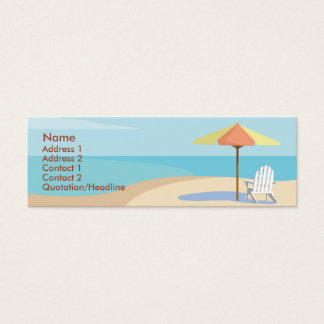 Beach - Skinny Mini Business Card