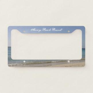 Beach Sky Sandy -Always Beach Bound License Plate Frame