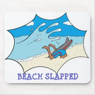 Beach Slapped Surfer Mouse Pad