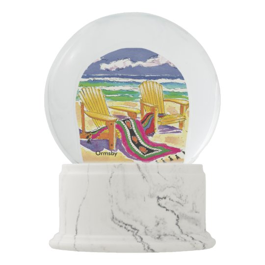 Beach Snow Globe Zazzle