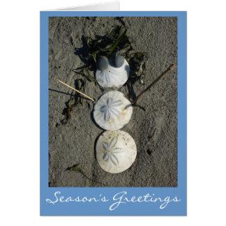Beach Snowman Card