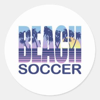 Beach Soccer Round Sticker