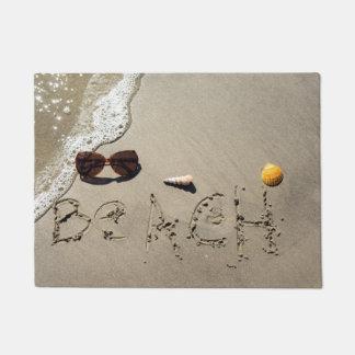 Beach Spelled In The Sand Doormat