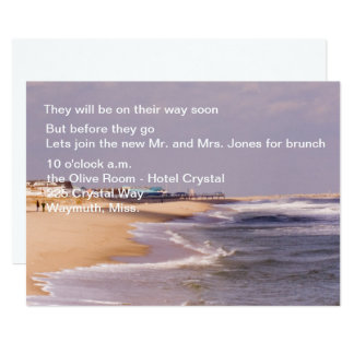 Beach Splendor Post Wedding Brunch Invitations