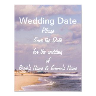 Beach Splendor Save the Date 4.25x5.5 Paper Invitation Card