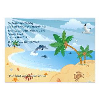 "Beach Spot Invitation 5"" X 7"" Invitation Card"