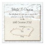BEACH square Wedding Invitation 13 Cm X 13 Cm Square Invitation Card