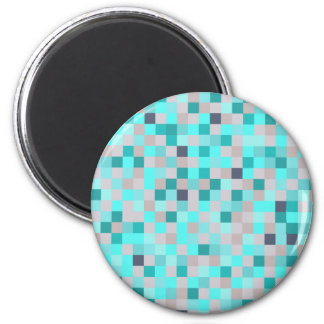 Beach Squares 2 Inch Round Magnet
