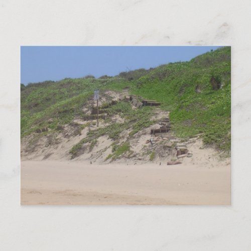 Beach Stairs postcard