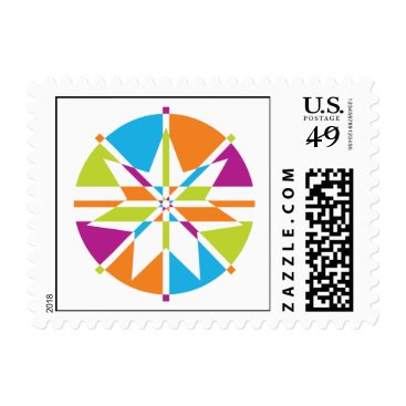 Beach Themed Beach Star 7 Point Design Postage