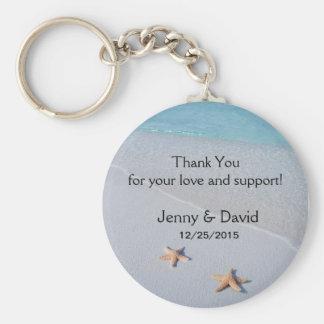 Beach Star Fish Love Personalized Wedding Favor Keychain