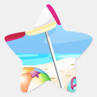 Beach Star Sticker