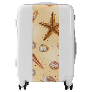 Beach starfish and seashells pattern luggage