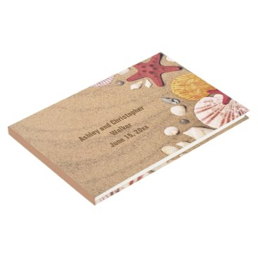 Beach Themed Beach Starfish and Seashells Wedding Guestbook