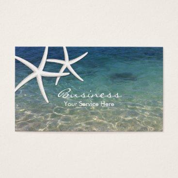 Beach Themed Beach & Starfish Beauty Salon Business Card