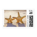 beach starfish couple postage stamps