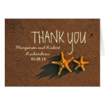 beach starfish couple thank you cards