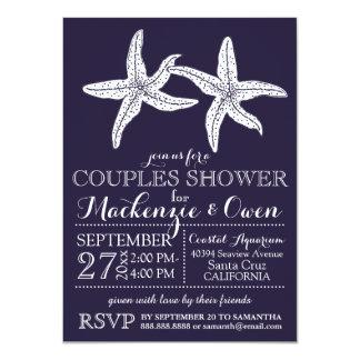 Beach Starfish Couples Wedding Bridal Shower Card