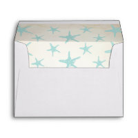 Beach Starfish Invitation Envelope