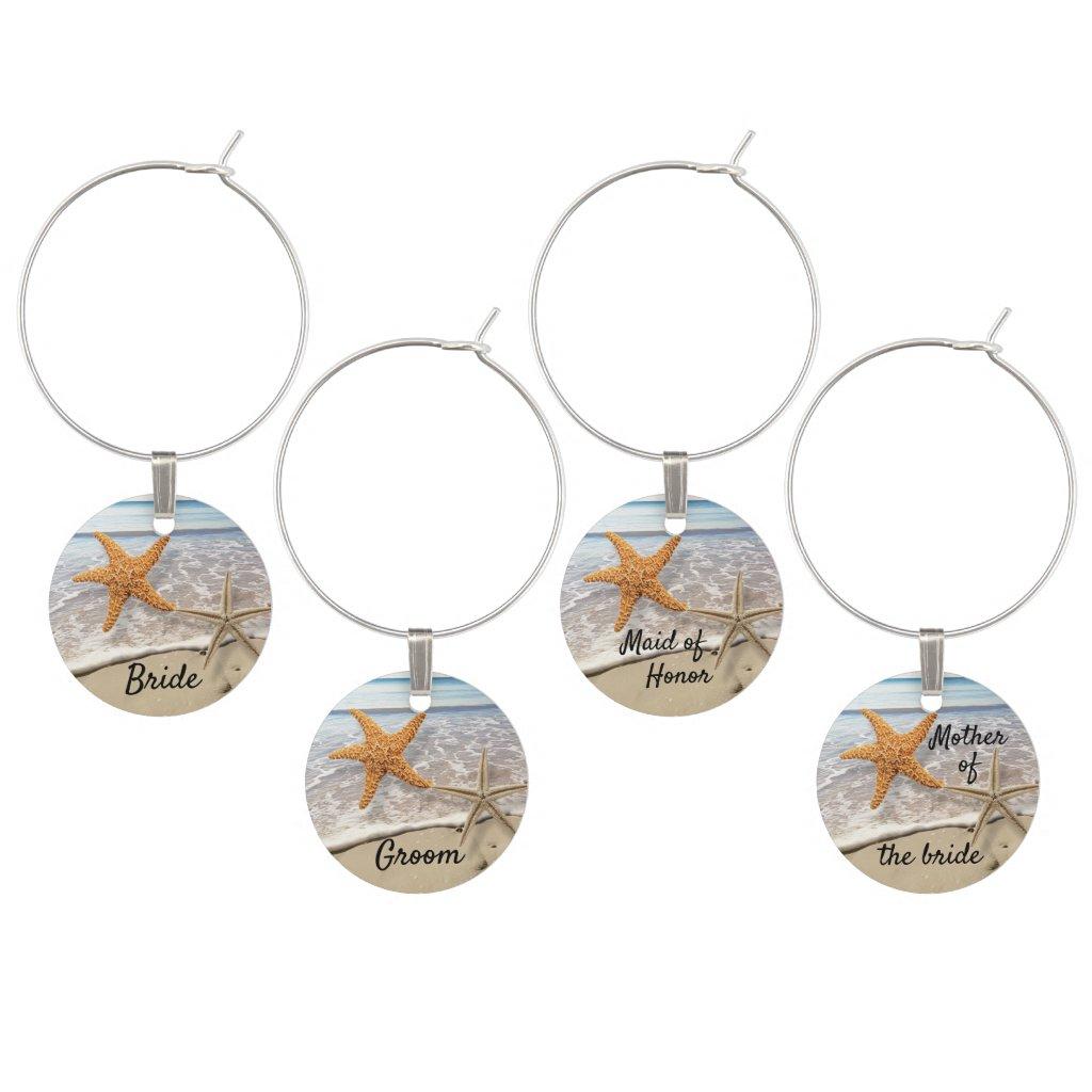Beach Starfish Ocean Wine Charm