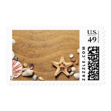Beach Themed Beach Starfish Shell Wildlife Stamp