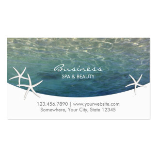 Beach & Starfish SPA & Beauty Salon Appointment Double-Sided Standard Business Cards (Pack Of 100)
