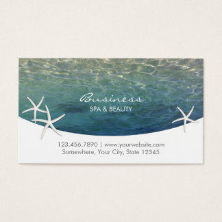 Beach & Starfish SPA & Beauty Salon Appointment Business Card