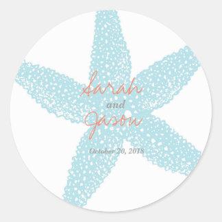"Beach Starfish Sticker 3"" round"