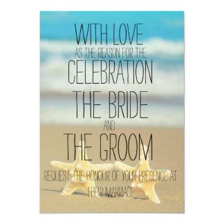 beach starfish wedding invitation 13 cm x 18 cm invitation card