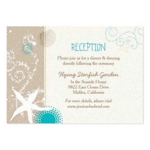 Beach Starfish Wedding Reception Enclosure Cards