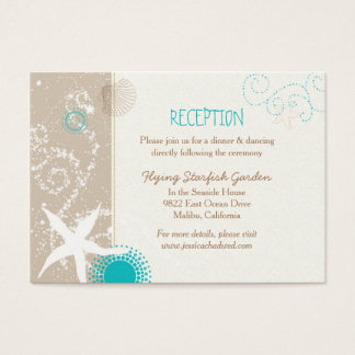 Beach Starfish Wedding Reception Enclosure Cards