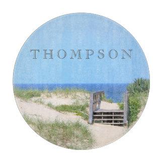 Beach Steps Custom Glass Cutting Board