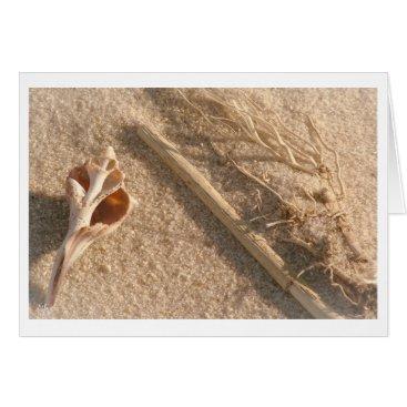 Beach Themed beach still life card