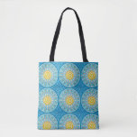 Beach stock market with fish tote bag