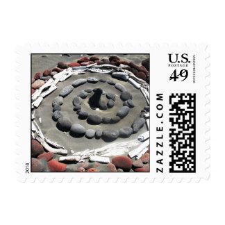 Beach Stone Circles Postage