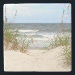 """Beach Stone Coaster<br><div class=""""desc"""">Beach</div>"""
