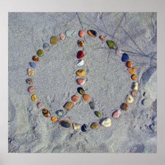 Beach Stone Peace Sign