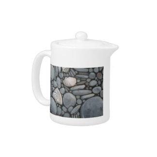 Beach Stones and Shells Teapot