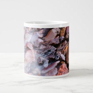 Beach Stones at Lake Superior Shore 20 Oz Large Ceramic Coffee Mug