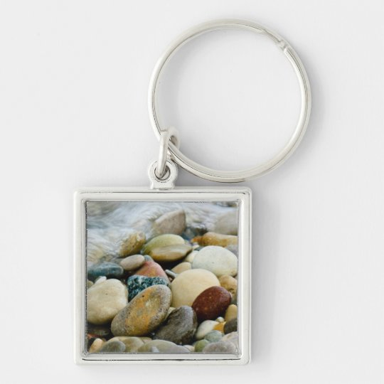 Beach Stones at the Shore Keychain