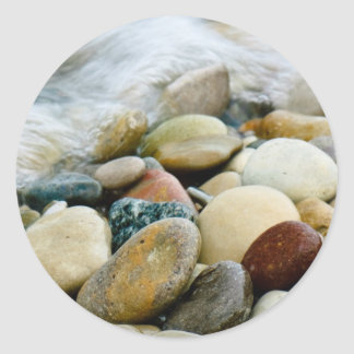 Beach Stones at the Shore Stickers