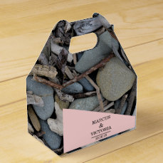 Beach Stones Driftwood Wedding Favor Box